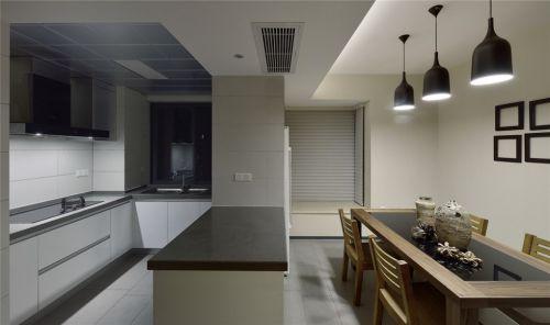 极简风格厨房餐厅效果图