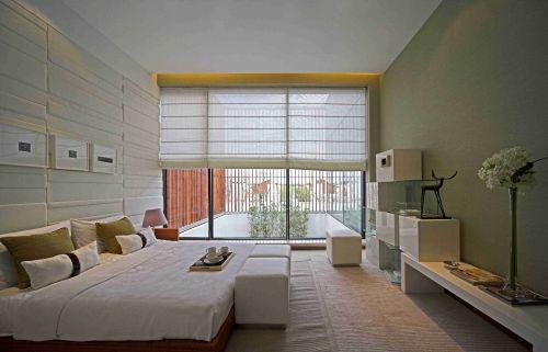 简欧卧室落地窗设计图片赏析