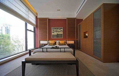 日式风格卧室落地窗设计图片赏析