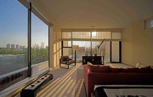 日式风格卧室落地窗装修图片