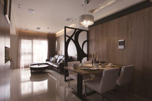 简约风格客厅餐厅隔断设计