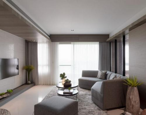 极简主义客厅背景墙效果图