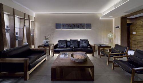 东南亚简约黑色的沙发效果图