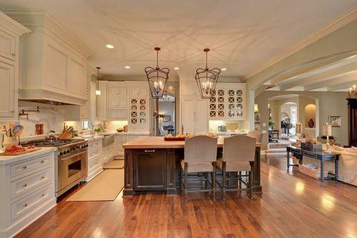 美式简约风格开放厨房装修效果图