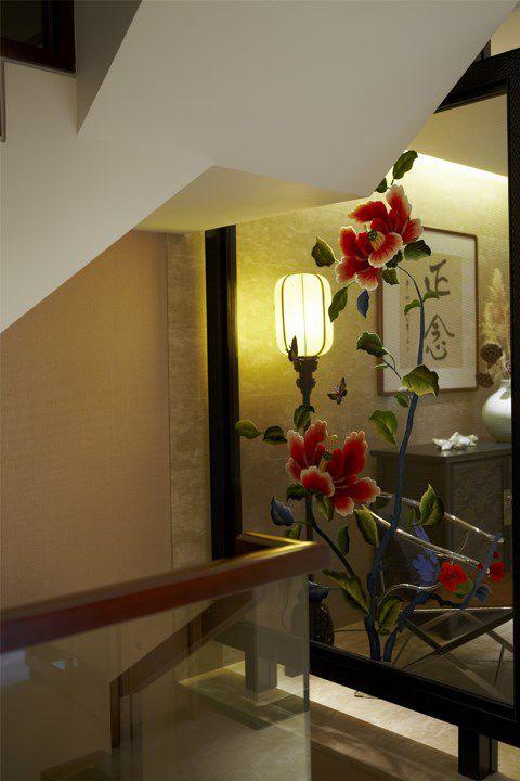 楼梯口中式风格设计效果图