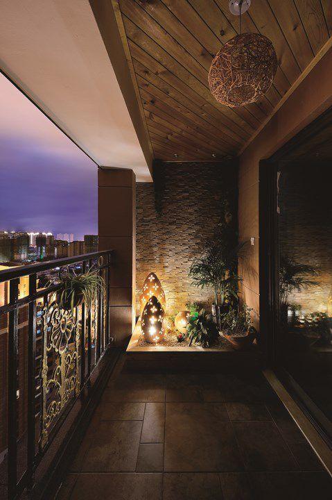 简约风格阳台休闲区设计
