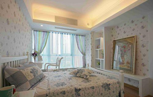 欧式田园风格卧室壁纸装饰效果图