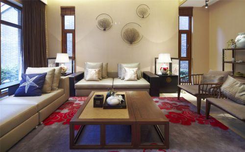 中式风格简约客厅米色的设计