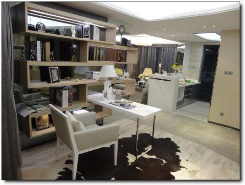 简约风格开放式书房装修设计