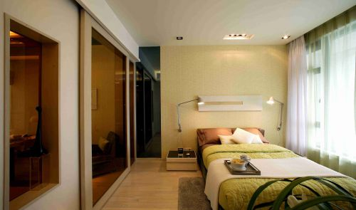 韩式风格卧室床头背景墙图片