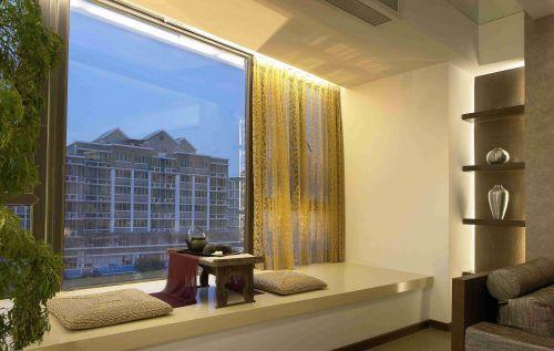新中式风格飘窗休息室.