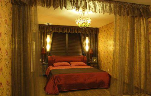 田园风格卧室吊顶装饰设计效果图