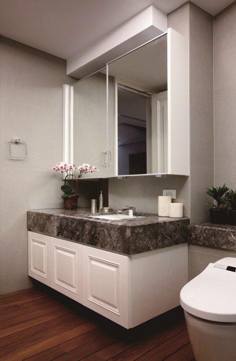 简约风格卫生间洗手台设计