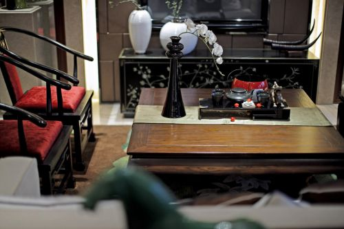 中式风格客厅茶几设计
