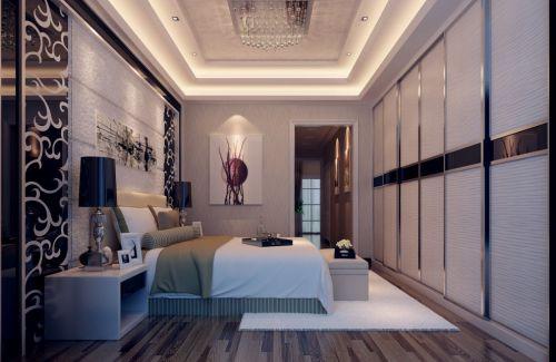 现代简约风格卧室背景墙设计