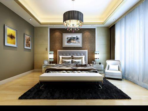 中式风格卧室吊顶灯饰设计