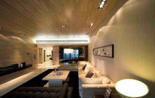 简约原木风格客厅装饰效果图