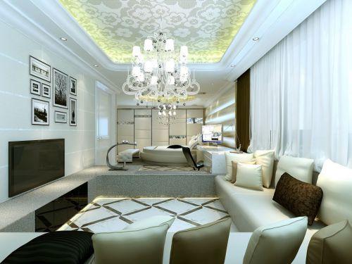 公寓风格客厅吊顶装修效果图