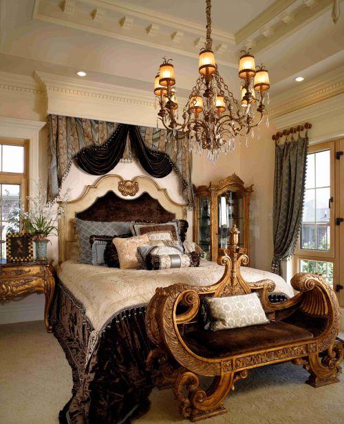 古典欧式风格卧室吊顶装饰设计