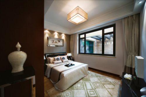 白色优雅的中式风格卧室设计