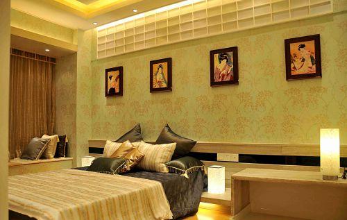 日式风格卧室飘窗装饰设计