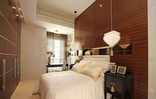 现代简约次卧室背景墙装饰效果图