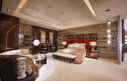 新中式风格卧室豪华装修效果图