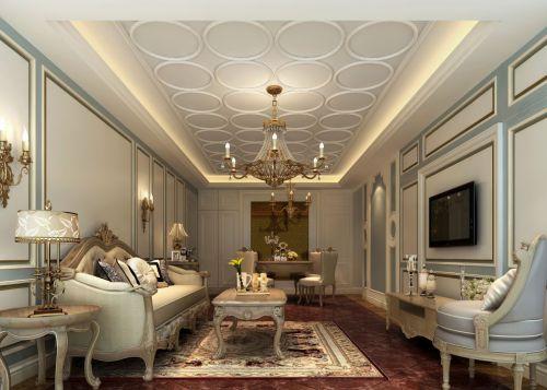 简欧客厅效果图墙面设计