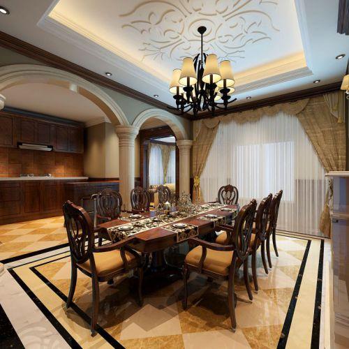 欧式古典风格装修餐厅效果图