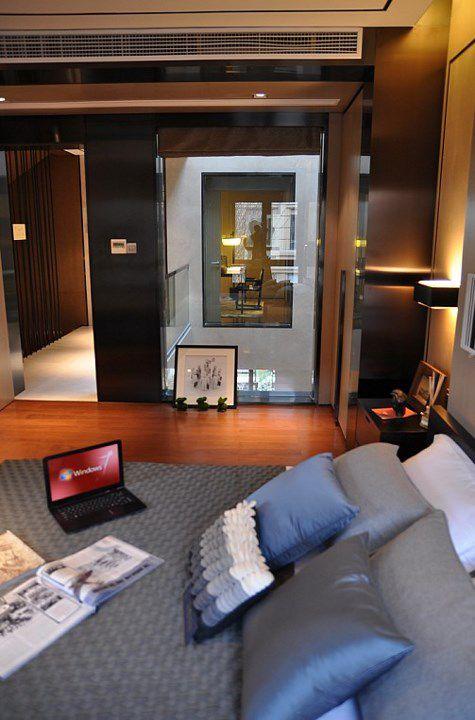 中式风格灰色的简约卧室装修