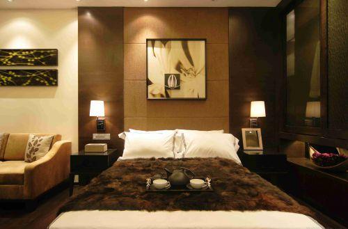 新古典风格卧室床头背景墙装饰