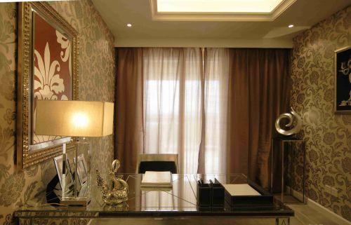 古典欧式风格书房壁纸装饰设计