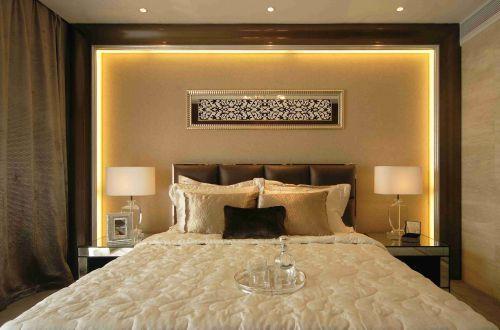 简欧风格卧室背景墙装潢设计