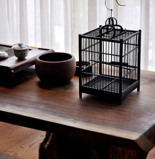 悠闲的中式风格书桌效果图