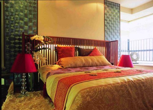 东南亚风格卧室背景墙效果图