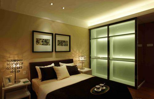 现代简约卧室灯光装饰效果图