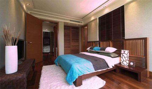 新中式风格卧室背景墙装潢设计