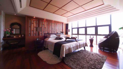 新中式卧室吊顶装潢效果图