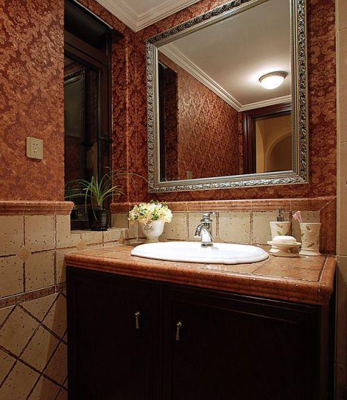 卫生间装修效果图洗手台设计