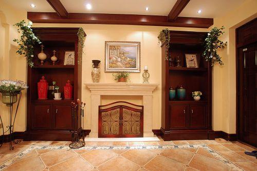 欧式古典客厅背景墙效果图