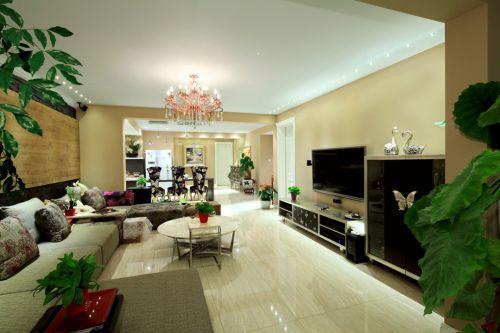 白色的时尚客厅装修效果图