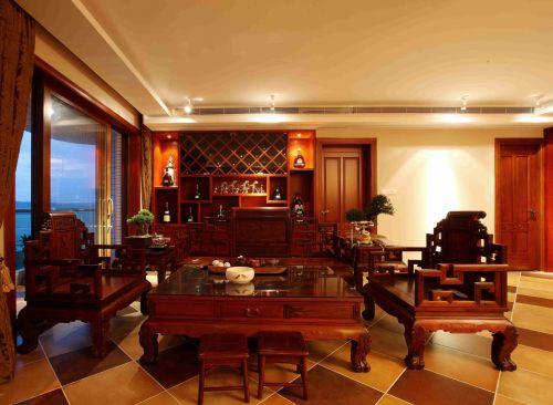新中式风格客厅装饰装潢效果图