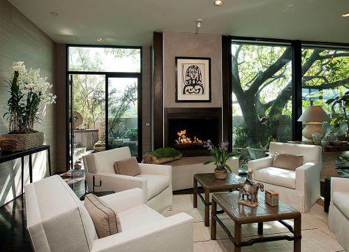 美式田园风格客厅装修效果图