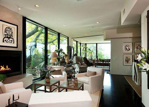 美式田园风格客厅简约设计