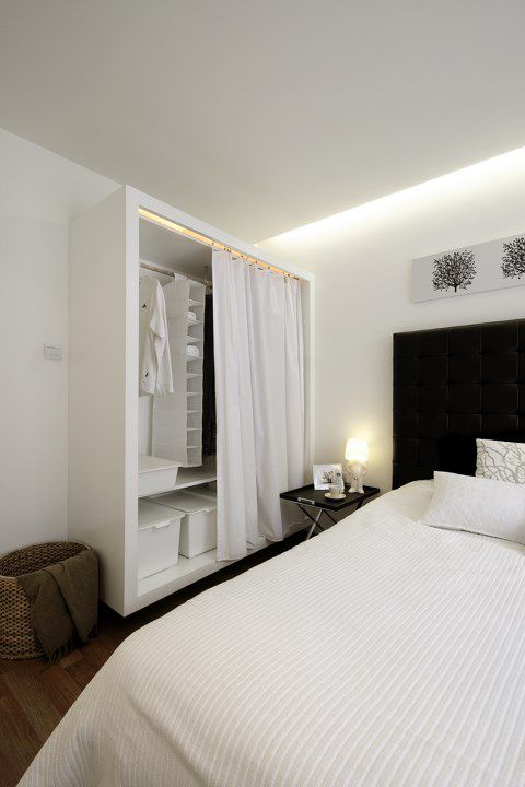 简欧风格小卧室衣柜设计