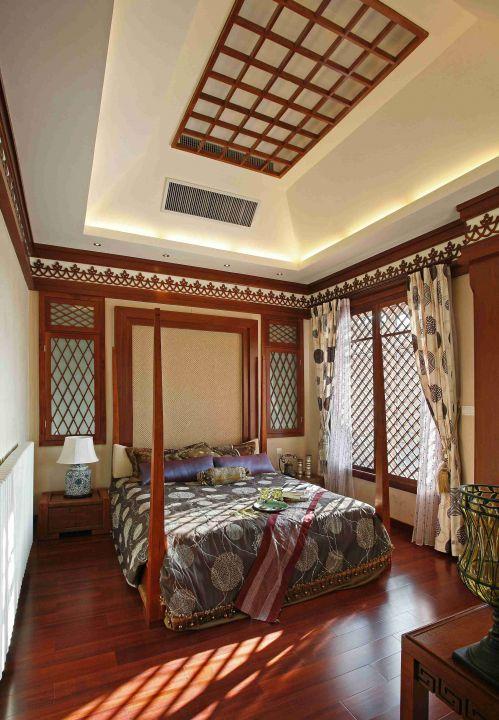 东南亚风格卧室吊顶装饰效果图