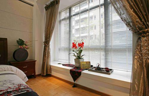 新中式风格卧室飘窗设计效果图