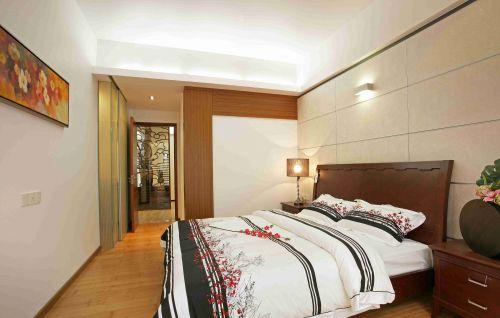 新中式卧室床头背景墙装饰图片