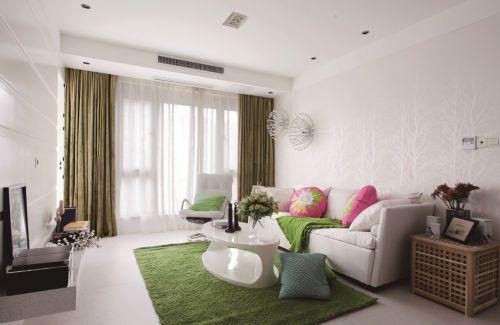 绿色简约小房型客厅装修图