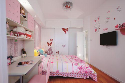 简约儿童房入墙衣柜设计